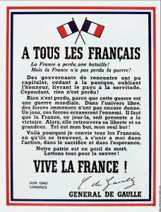 Céremonie de l'appel du 18 juin 1940 Verneuil l'étang
