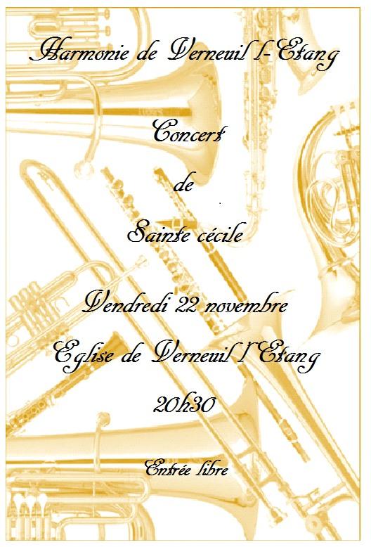 Concert st Cécile Harmonie Verneuillaise
