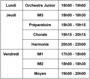 horaire école de musique verneuillaise